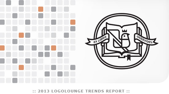 Logo trends in 2013, identified by Logo Lounge.